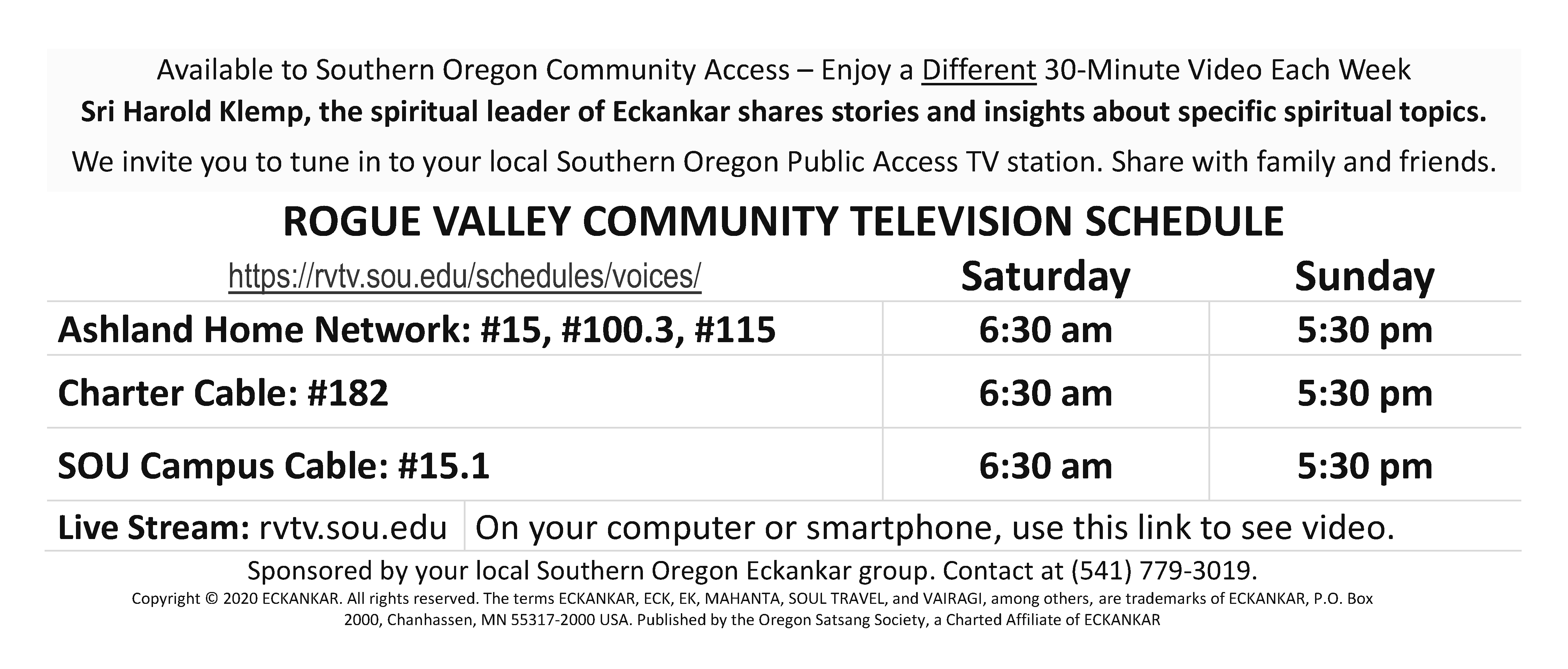 RVTV Southern-Oregon ECK Public TV Scehdules 2020-5-31_BW